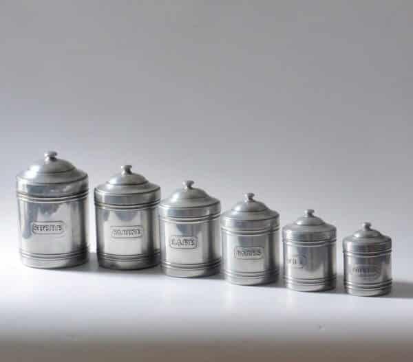 divine style french antiques vintage spice jar set 2