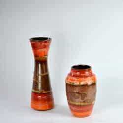 duo carstens fat lava 5043 vase metallic glaze