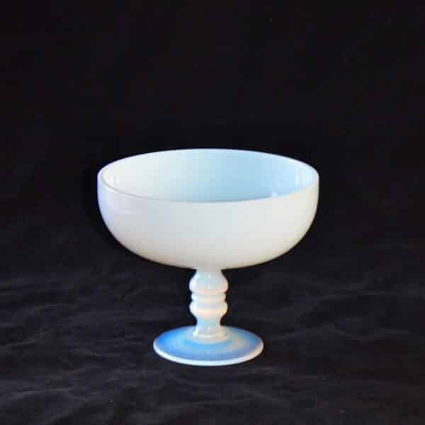 art deco opalescent sevres crystal tazza