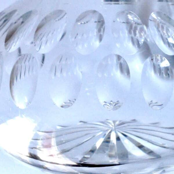 pair Victorian crystal decanters 5