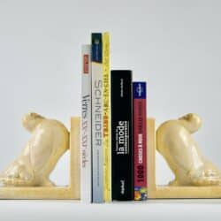 divine style french antiques odyv art deco bookends craquele dove