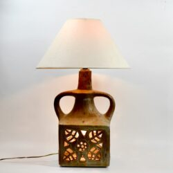 1970s floor lamp ceramic divine style french antiques
