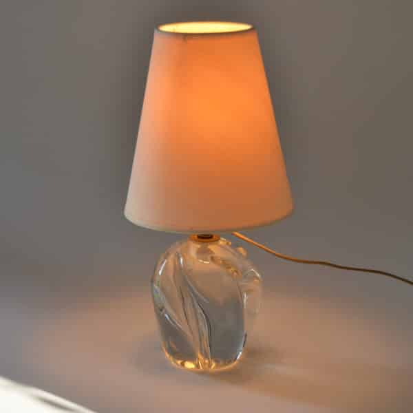 divine style french antiques daum crystal lamp