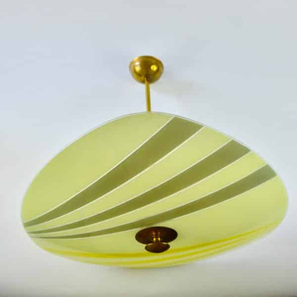 divine style french antiques 1950s flying saucer light modernist