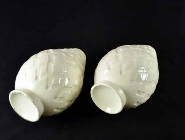 divine style french antiques Pair Charles Catteau Crackle Glaze Art Deco Vases 1