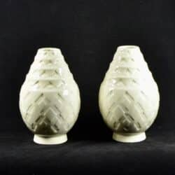 divine style french antiques Pair Charles Catteau Crackle Glaze Art Deco Vases