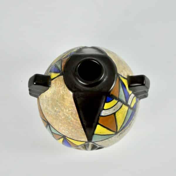 divine style french antiques art deco modernist vase art deco cubist antoine dubois belgium 3