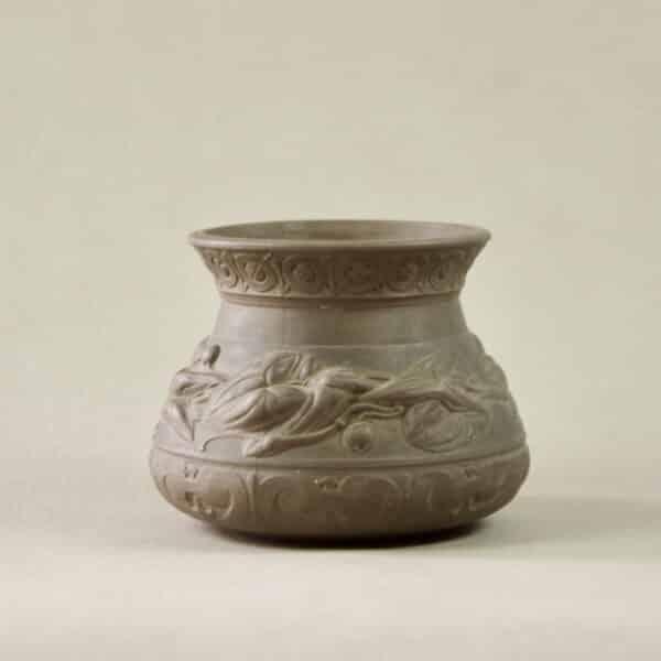 divine style french antiques sarreguemines terre d'égypte vase art nouveau 4