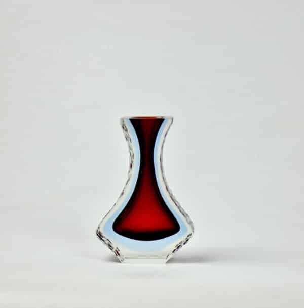 divine style french antiques mandruzzato murano sommerso red blue 1960s 70s