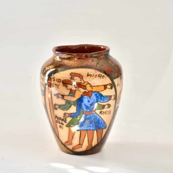 divine style french antiques rene emile brenner bayeux tapestry lustre vase 4