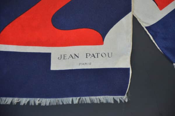 1960s Jean Patou silk scarf divine style french antiques 1