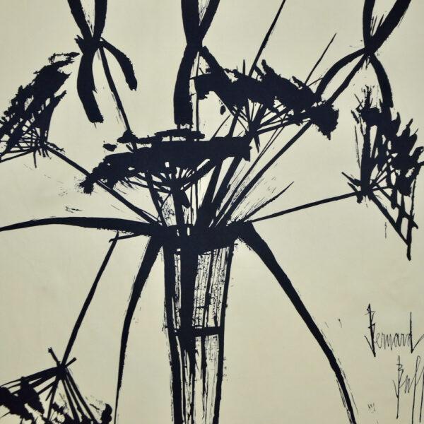 Bernard Buffet silk scarf vintage 1960s French expressionist artist 2
