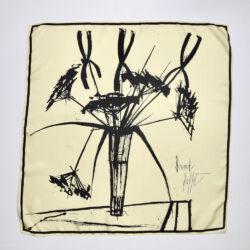 Bernard Buffet silk scarf vintage 1960s French expressionist artist