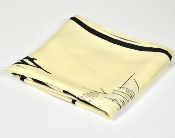Bernard Buffet silk scarf vintage 1960s French expressionist artist 5
