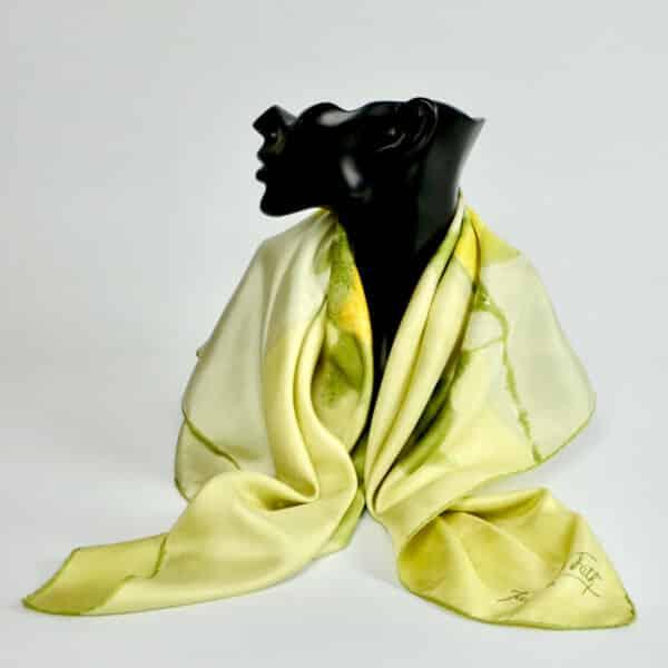 divine style french antiques jacques fath silk scarf lemon floral 60s
