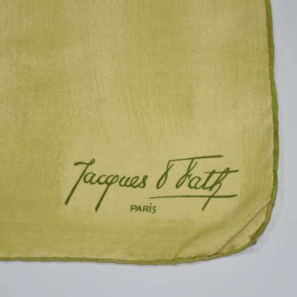 divine style french antiques jacques fath silk scarf lemon floral 60s 2