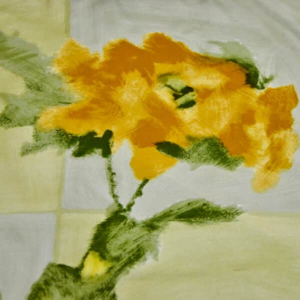 divine style french antiques jacques fath silk scarf lemon floral 60s 3