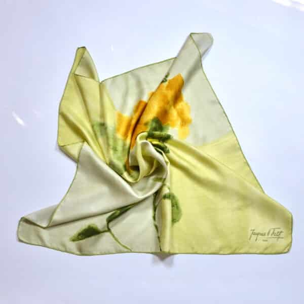 divine style french antiques jacques fath silk scarf lemon floral 60s 4