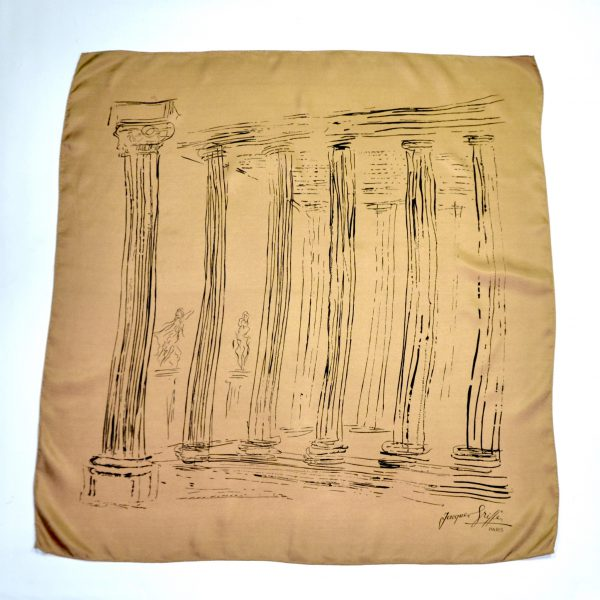 divine style french antiques jacques griffe silk scarf grecian 2