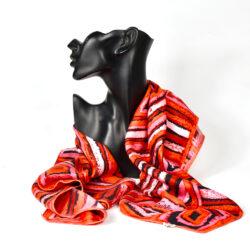 Jeanne Lanvin Castillo silk scarf geometric 1950s 1960s vintage french designer scarf