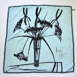 bernard buffet silk scarf divine style french antiques