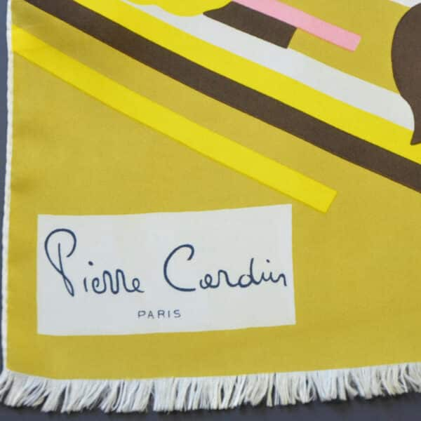 pierre cardin silk scarf 1970s divine style french antiques 1