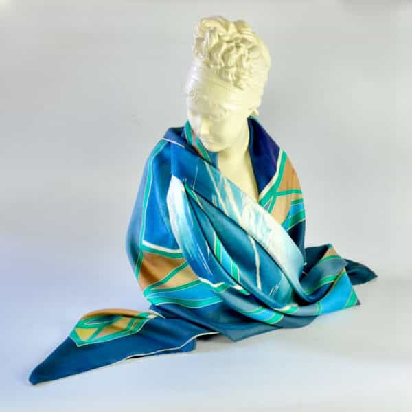 yannick manier silk scarf divine style french antiques