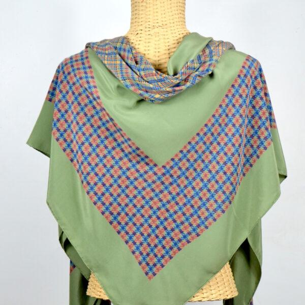 Christian Dior silk shawl large green french designer silk scarf couture 2