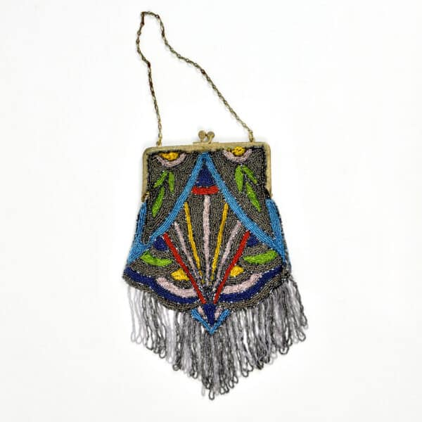 divine style french antique Art Deco beaded bag 2