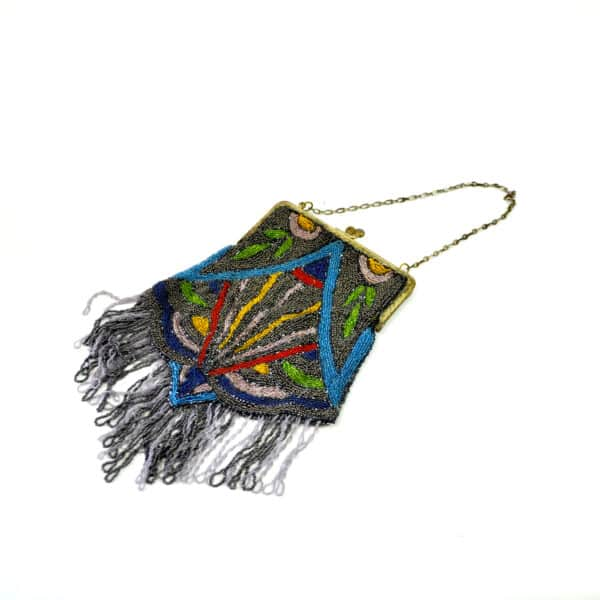 divine style french antique Art Deco beaded bag
