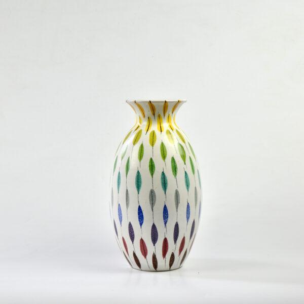 divine style french antiques bitossi piume multicolore vase aldo londi (1)