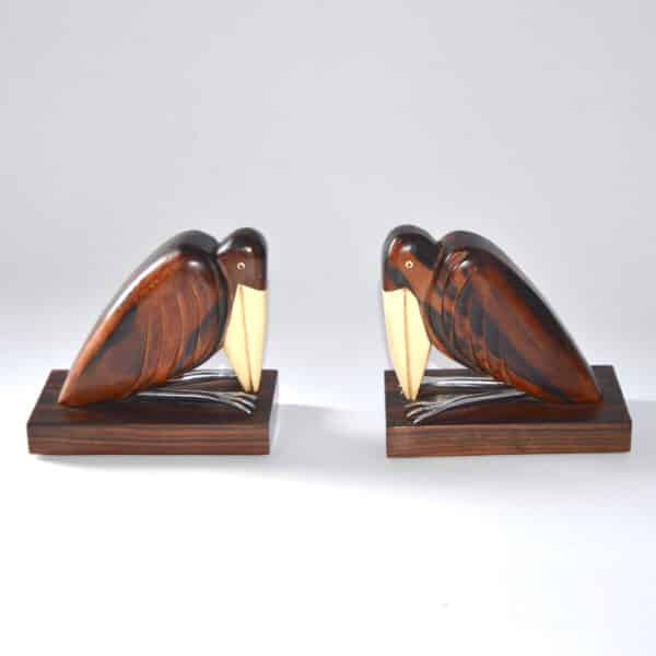 divine style french antiques french art deco bookends birds 3