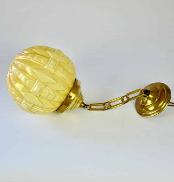 divine style french antiques Art Deco globe light fixture 1