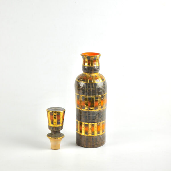 divine style french antiques fratelli franciullacci gold sgraffito decanter bottle vase 7