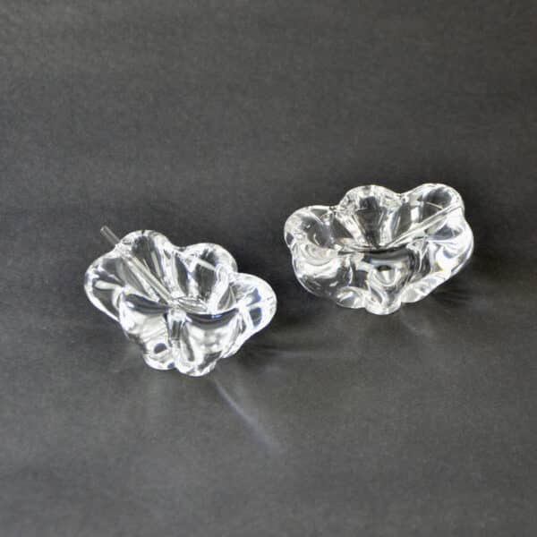 divine style french antiques daum crystal open salts pr