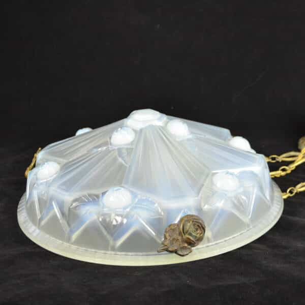 divine style french antiques art deco opalescent glass ceiling light Jean Gauthier 3