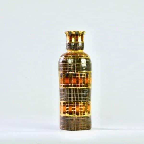 divine style french antiques fratelli franciullacci gold sgraffito decanter bottle vase 4