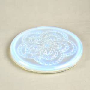 divine style french antiques art deco opalescent trivet landier