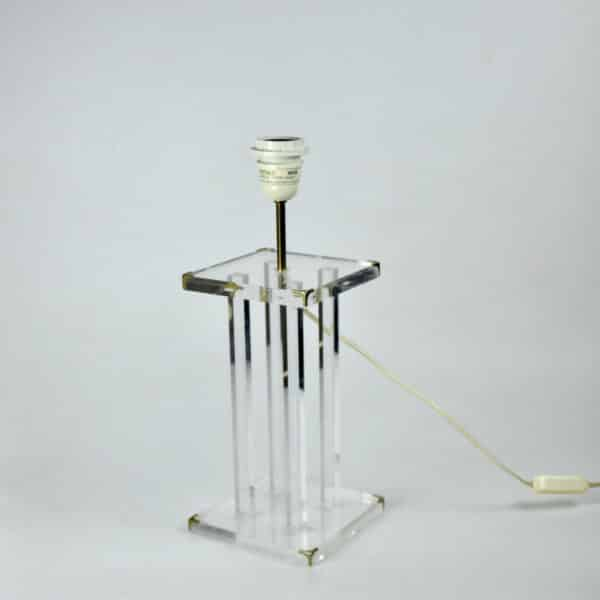 divine style french antiques 1970s perspex table lamp Lange 3