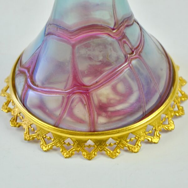 divine style french antiques Pallme konig trailed glass vase 1900 art nouveau 5