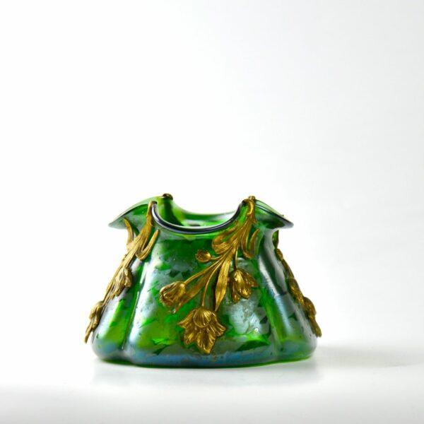 divine style french antiques loetz art nouveau vase gilt ornament