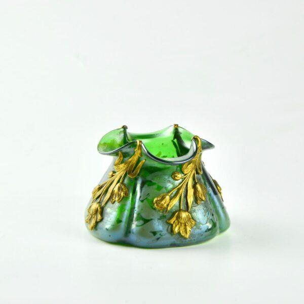 divine style french antiques loetz art nouveau vase gilt ornament 7