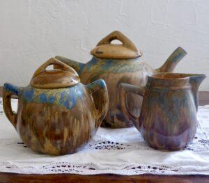 gilbert metenier art deco tea set