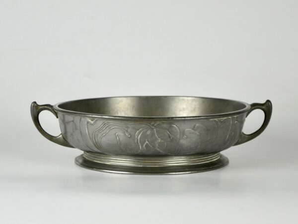 divine style french antiques orivit art nouveau pewter bowl 1900 1