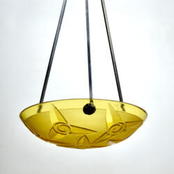divine style french antiques signed degué art deco light