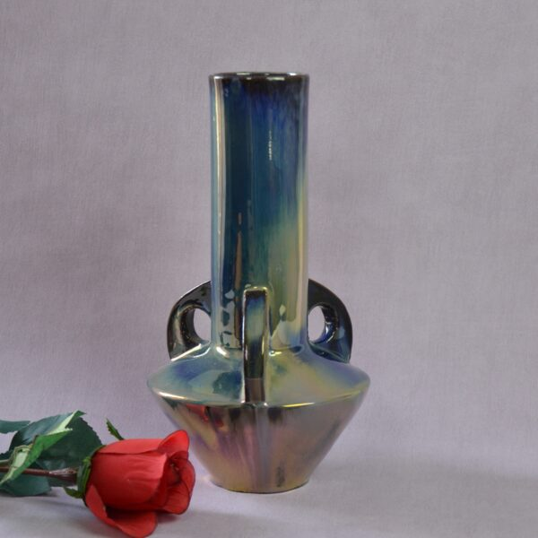 Divine style french antiques Rambervillers Art Nouveau vase iridescent stoneware 5