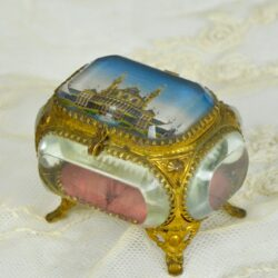 divine style french antique bevelled glass jewel box Trocadero