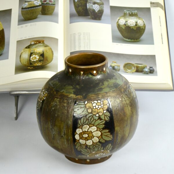 Charles Catteau Keramis stoneware vase