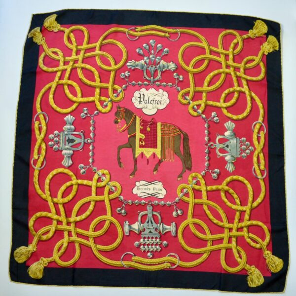 divine style french antiques Hermès silk scarf Palefroi 1965