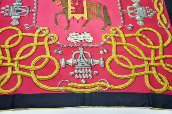 divine style french antiques Hermès silk scarf Palefroi 1965 4